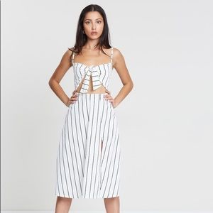 NWT Missguided striped cut out midi dress size 6